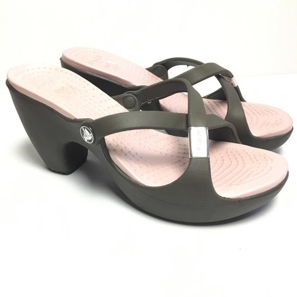 8ea66971e CROCS Shoes - Crocs Cypress Croslite High Heel Slide Sandals